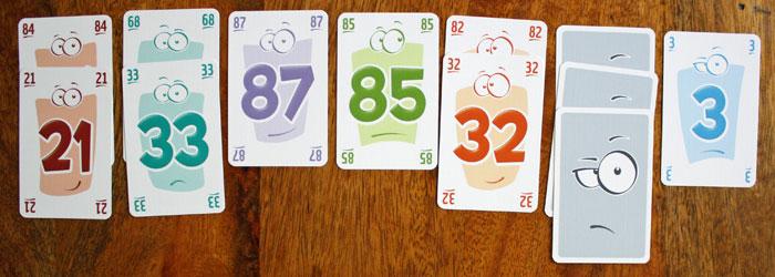 Die Kartenauslage eines Spielers.
