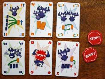 Die Aktionskarten aus dem 6nimmt! Brettspiel.