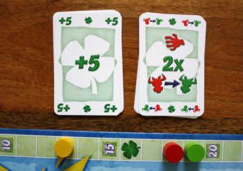 Spielvariante mit Glückskarten