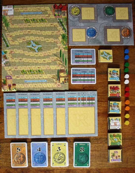 Spielzubehör zu Der Palast von Alhambra.