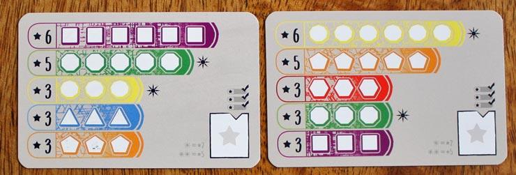 Zwei Spielkarten aus Alles auf 1 Karte.