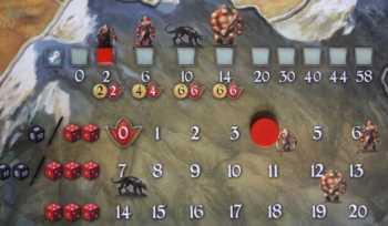 Die schwächste Kreatur (Gor) verfügt über 2 Stärke- und 4 Willenskraftpunkte.