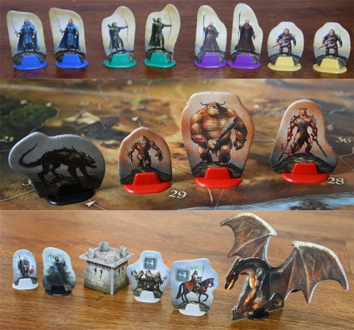 Helden, Kreaturen und weitere Figuren in Andor.