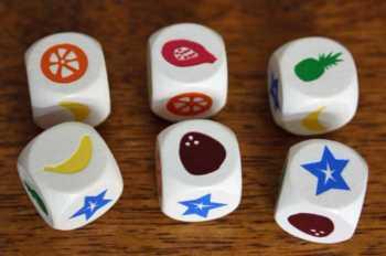 Die sechs Früchtewürfel