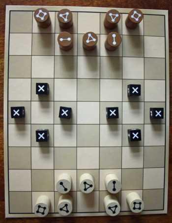 Spielaufbau einer Partie.