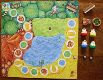 Spielzubehör zum Kinderspiel Beppo der Bock.