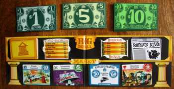 Aufbau des Big Money Spielplans.