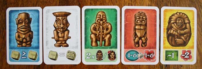 Die fünf Götter in Bora Bora.
