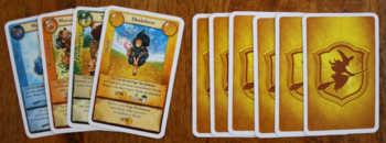 Vier Rollenkarten auswählen