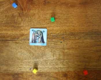 Minispiele mit Wurfsteinen.