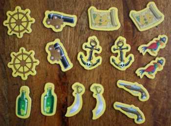 Die 16 Gegenstände eines Spielers.