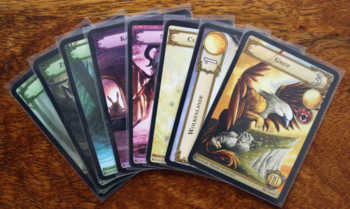 Card Drafting mit 8 Spielkarten.