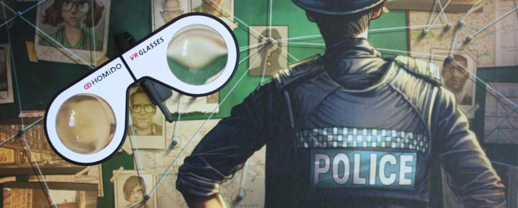 VR-Brille zu Chronicals of Crime von Corax Games.