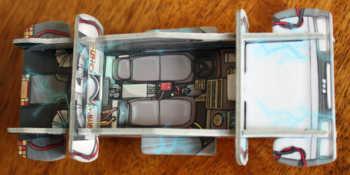 Das Innere des DeLorean.