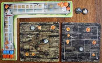 Die Spielerauslage zu Beginn des Spiels.