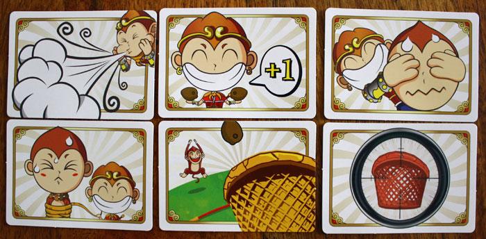 Die Aktionskarten von Crazy Coconuts.