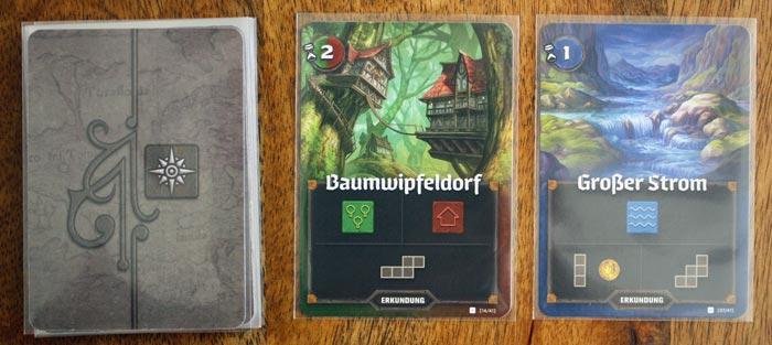 Zwei Beispiele für Erkundungskarten aus Der Kartograph.