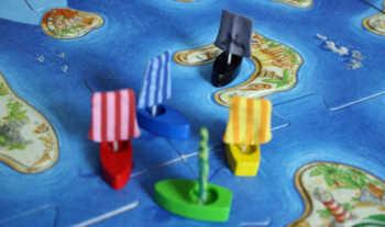 Der Spielplan und die Startfelder der Schiffe.