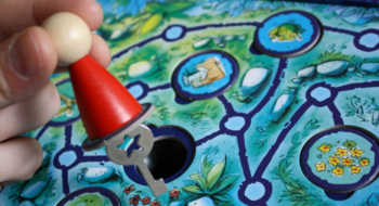Robin hat den Schlüssel gefunden.