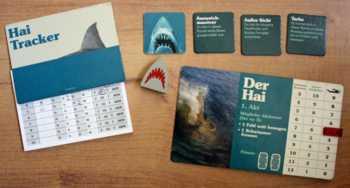 Auf dem Hai-Tracker trägt der Spieler alle Bewegungen geheim ein.