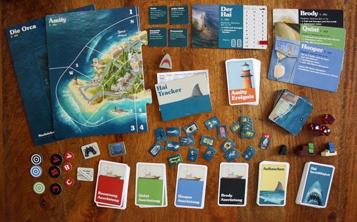 Spielzubehör zum Brettspiel Der weisse Hai.