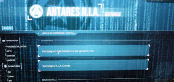 Die Antares-Datenbank erfordert eine einmalige Registrierung.