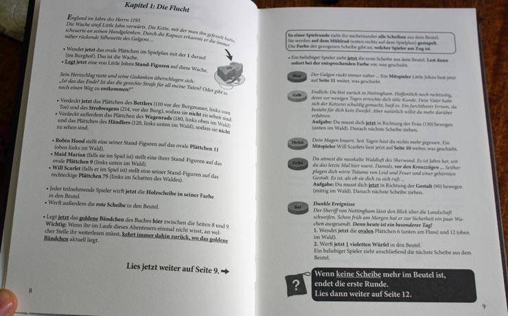 Das Buch führt euch durch die Vorbereitung und das Spiel.