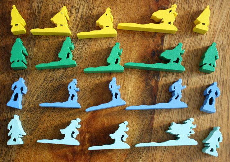 Die Stand- und Bewegungsfiguren der Spieler.
