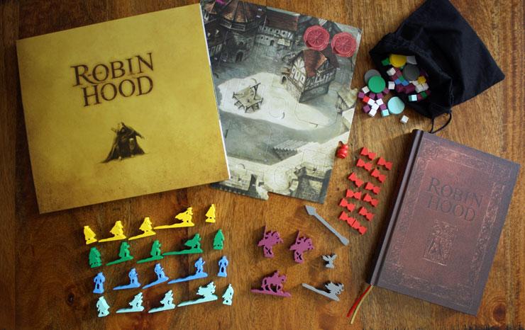 Das Spielzubehör zu Die Abenteuer des Robin Hood.