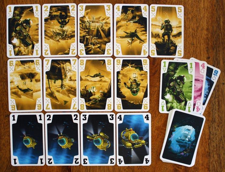 Die Spielkarten und Trümpfe.