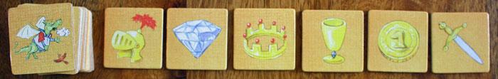 Die sechs möglichen Symbole.