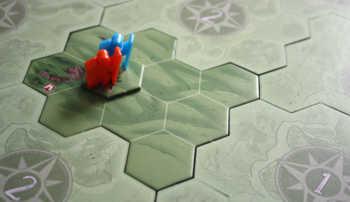 Das Spiel beginnt im Lager, das Umland ist noch unbekannt.