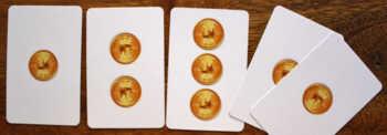 Die goldenen Punktekarten.