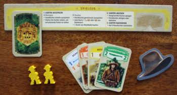 Das Startzubehör des gelben Spielers.