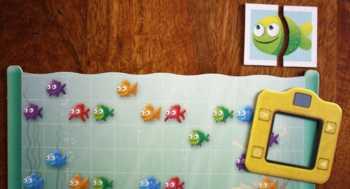 Das Spielzubehör eines Spielers in Foto Fish.