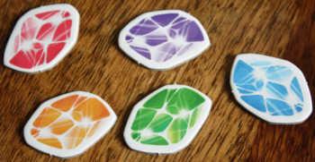 Die Qual der Wahl! Fünf Farben stehen zu Auswahl.