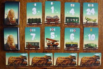 Spielkarten von Game of Trains.