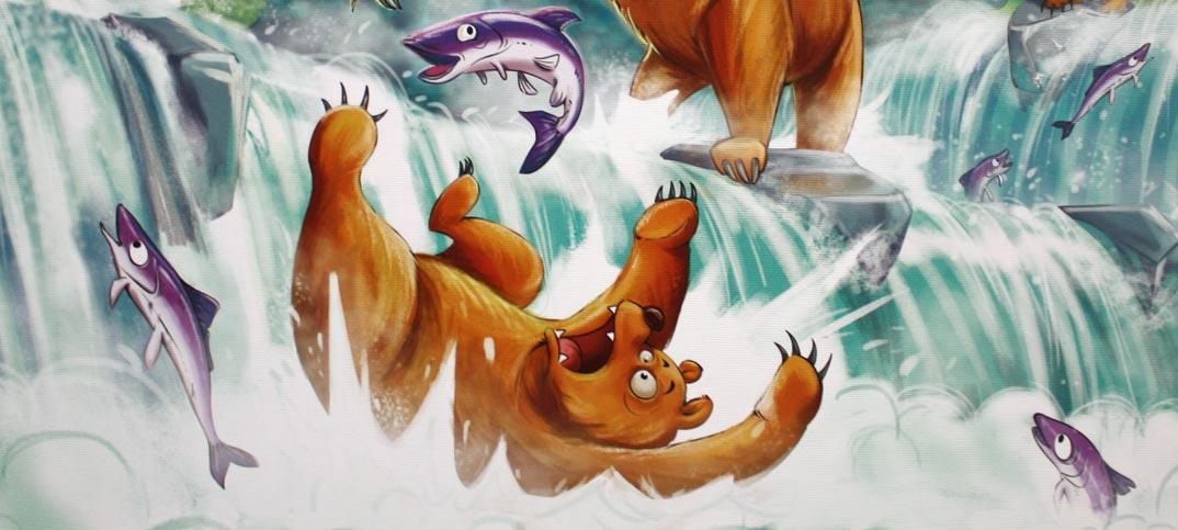 Grizzly - Lachsfang am Wasserfall Kinderspiel von Amigo