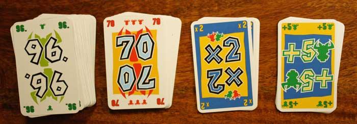 Die Spielkarten von Hornochsen.