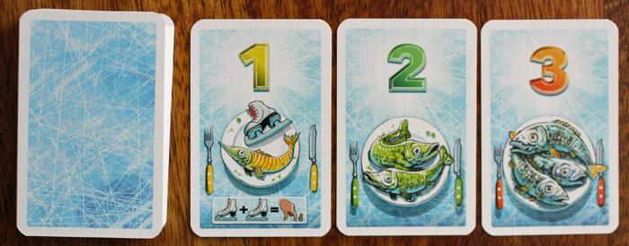 Jede Fischkarte bringt Punkt(e).