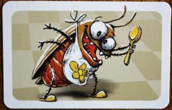 Die Kakerlake frisst den Honig.