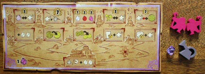 Die Spielertafel des Startspielers.