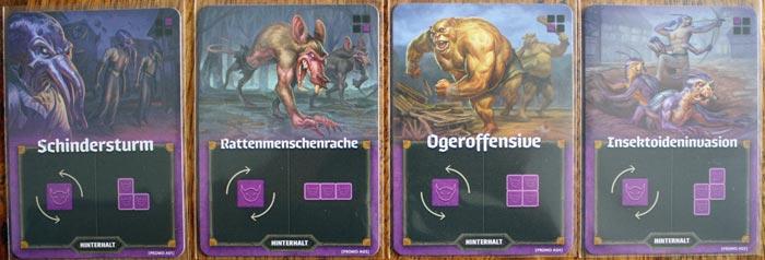 Die Mini-Erweiterung bringt vier neue Hinterhalte ins Spiel.