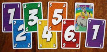 In dieser Reihenfolge dürfen Karten abgelegt werden.