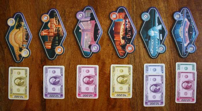 Spielaufbau von Las Vegas.