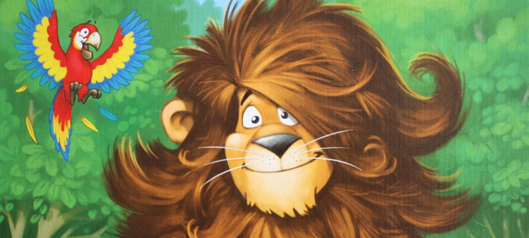 Leo muss zum Friseur Kinderspiel Abacusspiele.