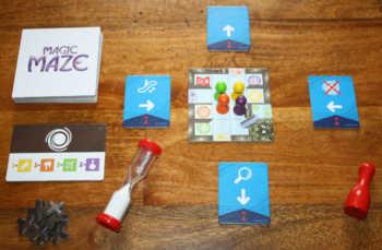 Der Spielaufbau von Magic Maze geht sehr schnell.