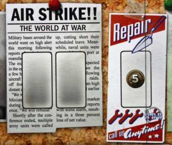 Luftangriffe und Reparaturarbeiten.