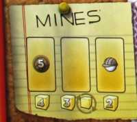 Die Minen des Spielplans