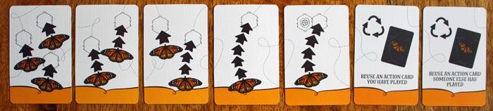 Die unterschiedlichen Bewegungskarten in Mariposas.